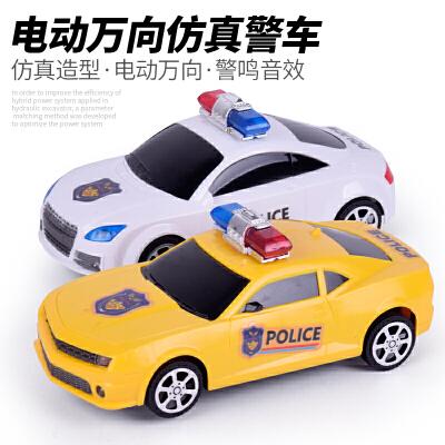 儿童益智力1-2-3-4-5岁电动万向汽车音乐警车男孩宝宝玩具小孩子