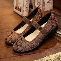 中老年人老北京布鞋夏季女网鞋软底透气老太太鞋婆婆鞋妈妈鞋