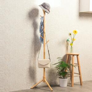 衣帽架 欧式现代挂衣架简易落地家用书房客厅卧室简约衣服架子家具用品