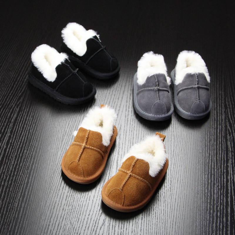 宝宝棉鞋男童套脚保暖女童棉鞋软底