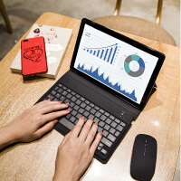 华为M5pro保护套10.8寸m5超薄蓝牙键盘休眠皮套全包边软硅胶壳子 华为M5/pro10.8英寸超薄键盘保护套【麻