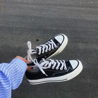 韩国街拍万年经典款百搭1970s复刻黑色低帮男女情侣帆布鞋女ins鞋夏季百搭鞋