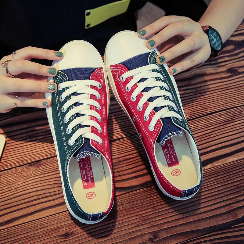 春夏季低帮帆布鞋男韩版潮流板鞋子男学生男士休闲平底小白鞋社会