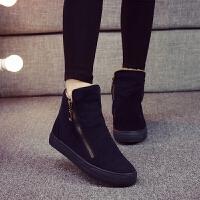 棉鞋女冬季新款韩版百搭平底棉靴学生鞋子短靴加绒保暖雪地靴