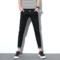 男士牛仔裤男弹力长裤青年休闲裤子修身型小脚直筒牛仔裤男小脚裤