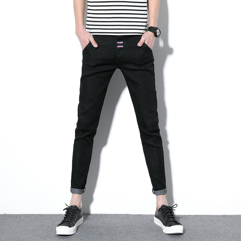 男士牛仔裤男弹力长裤青年休闲裤子修身型小脚直筒牛仔裤男小脚裤 一般在付款后3-90天左右发货,具体发货时间请以与客服协商的时间为准