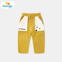 【1件2折】马卡乐童装22春新款婴幼裤装小马图案口袋休闲时尚男童裤子