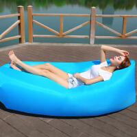 御目 充气沙发 户外便携式轻便多功能懒人沙发床沙滩免打气睡袋午休大躺椅易收纳折叠充气床