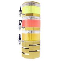 商用三层不锈钢果汁鼎 叠式塔式自助餐多层果汁机冷饮机饮料机