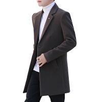 男士风衣2018新款呢子大衣中长款男外套春秋韩版潮流男装衣服冬季