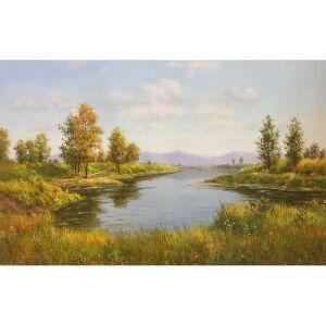 朝鲜油画 一级画家 俞永民《早春》【大千艺术品】