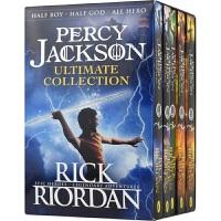 Percy Jackson 波西・杰克逊5册盒装 神话玄幻小说 畅销 青少年小说 9-12岁 章节书 英语学习 课外读物