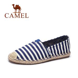 Camel/骆驼 女鞋夏季新款帆布鞋女 休闲百搭平底鞋 学生韩版懒人单鞋
