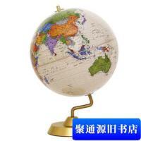【旧书二手书9成新】博目地球仪:32CM中英文政区仿古地球仪 金色圆座11-32-36