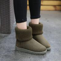 冬季雪地靴女平底短筒短靴加绒加厚防滑保暖棉鞋时尚雪地棉 女