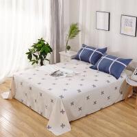 【】放心购 新款 ins北欧风纯棉单床单单件简约条纹1.21.8m2米床全棉被单