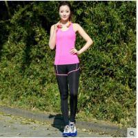 柔软透气舒适连帽开衫假两件运动裤健身跑步外套瑜伽运动服三件套装 女
