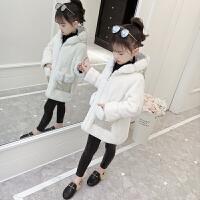 童装女童仿皮草外套毛衣冬季上衣外套