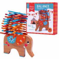 六一儿童节礼物!Mideer弥鹿大象平衡叠叠乐儿童叠叠高桌面益智亲子智力游戏3-6岁 手眼协调 亲子互动 平衡学习 趣