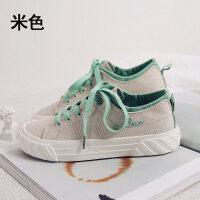 帆布鞋女2019新款韩版板鞋子女学生百搭港风复古网红女款鞋薄荷绿