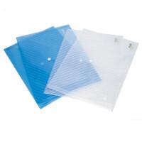 得力5501按扣A4文件袋资料袋纽扣袋文件套透明公文袋办公用品