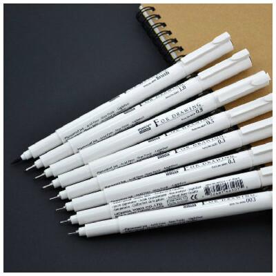 美辉4600 针管笔|草图笔|含极细型号和软笔勾线 防水不褪色