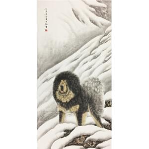 王生勇《藏獒》著名画家