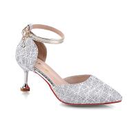 高跟鞋女网红百搭配裙子穿的鞋子夏季晚晚风温柔鞋网红淑女仙女夏季百搭鞋