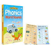 Pull-The-Tap Phonics Word Sound 抽拉英语启蒙纸板书 儿童自然拼读 字母发音学习 英文原