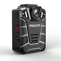 【送64G高速卡包邮】飞利浦PHILIPS 执法记录仪 VTR8110现场记录仪高清红外夜视1080P音视频行车记录便