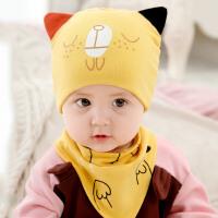 婴儿帽子秋冬0-3-6-12个月男女宝宝套头帽婴幼儿棉帽新生儿胎帽冬