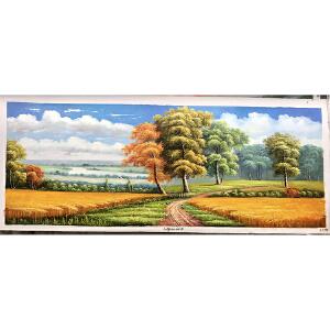 风景油画作品 70X180-178