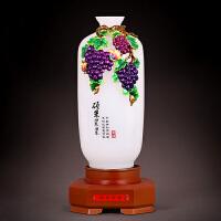 祥盛昌 花瓶摆件创意琉璃办公室客厅电视柜新房装饰乔迁结婚礼品