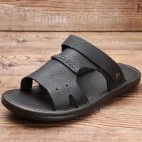 凉鞋男潮2019新款夏季沙滩软底休闲室外穿防滑皮凉拖夏天男士拖鞋