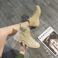 靴子女2019秋款韩版粗跟低跟马丁靴女英伦风短靴女春秋单靴马丁靴