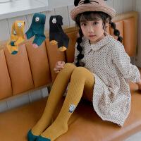 【89元3件】新款女童打底袜棉质卡通儿童连裤袜宝宝打底裤