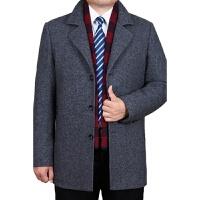 男士羊绒呢大衣中长款羊毛呢子风衣商务中年秋冬季加厚毛呢外套男