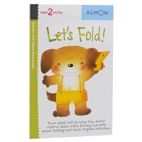 Kumon Let's Fold 公文式教育 折一折1 打造天才大脑的益智手工 幼儿启蒙教辅 儿童英文原版进口图书