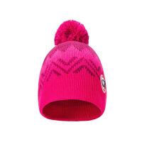 儿童针织滑雪帽 户外骑行毛线球帽女童保暖套头帽