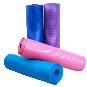 加厚防滑瑜珈垫多功能运动健身垫10mm*180cm*60cm