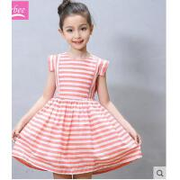 童装女童连衣裙夏装条纹小女孩公主裙新款中大童儿童裙子纯棉可礼品卡支付