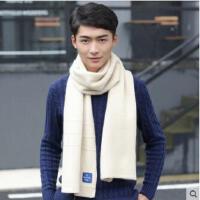 围巾大方长款混色毛线针织加厚年轻人百搭保暖围脖男士围巾潮韩版学生