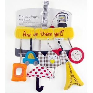 进口猫头鹰婴儿音乐车挂床绕 安全座椅挂件原单毛绒玩具