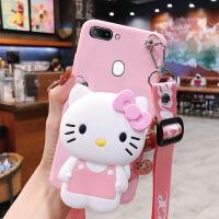斜挎零钱包oppor15x手机壳r15梦境版k1可爱粉色猫咪r17pro带挂绳k3可以背的一体钱包创