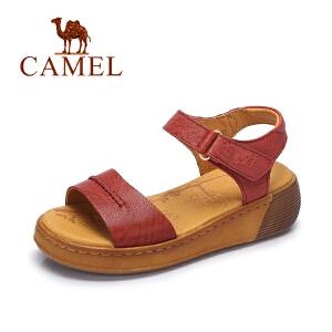 Camel/骆驼女鞋 春夏新款简约厚底女鞋舒适休闲凉鞋