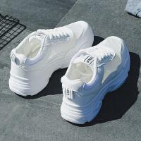 鞋子女学生运动鞋女夏季厚底韩版网面透气百搭原宿小白鞋女跑步鞋
