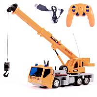充电遥控车工程车仿真挖掘机汽车大号儿童电动玩具车吊车泥罐车叉车玩具