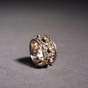 纯银花丝戒指