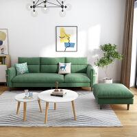 华南家具简约现代布艺沙发组合小户型客厅转角沙发三人位贵妃组合