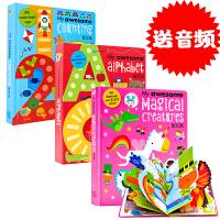 英文原版绘本My Awesome Alphabet Book/Counting Book1-20/nursery rh